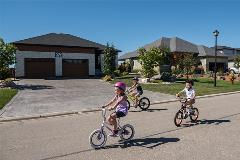 Children riding their bikes